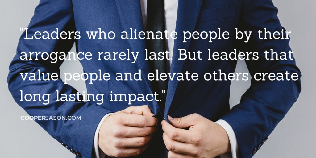 Leadership & Arrogance: Don't Let It Go To Your Head