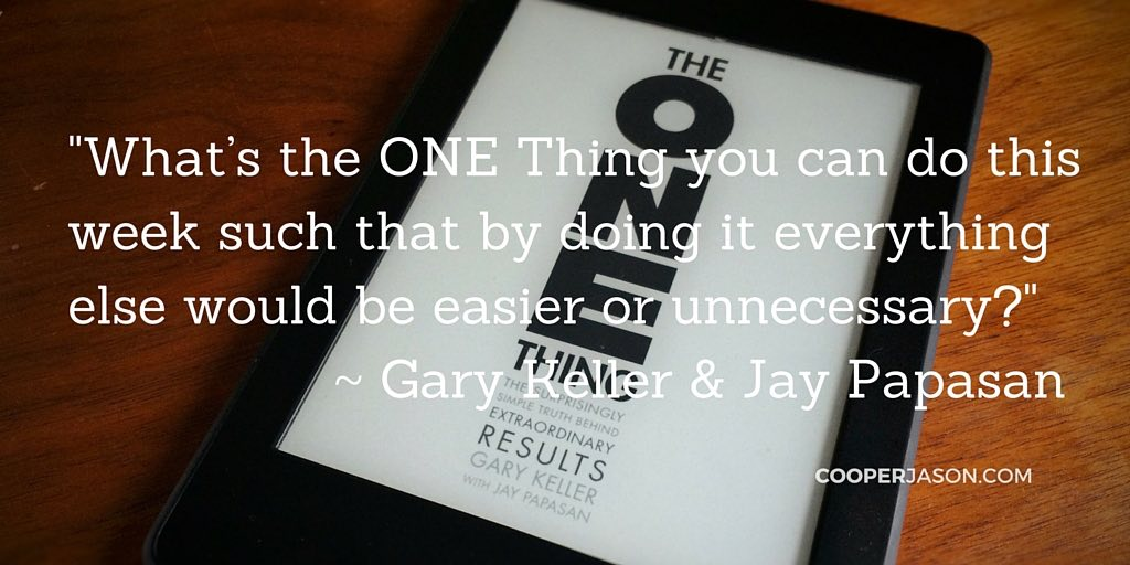 The ONE Thing [Book]